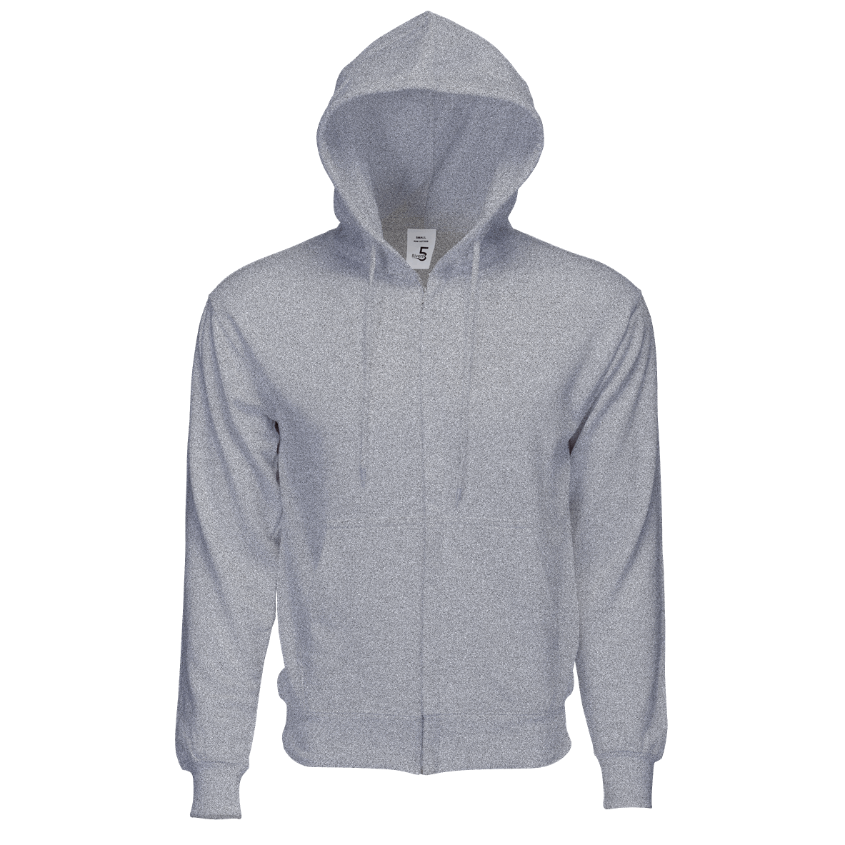 Fleece Zipper Heather Grey
