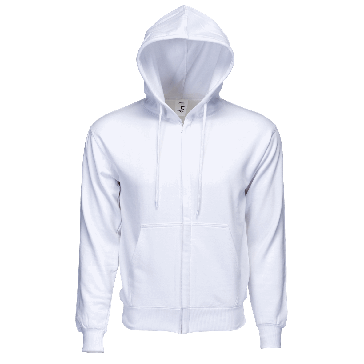 Fleece Zipper White