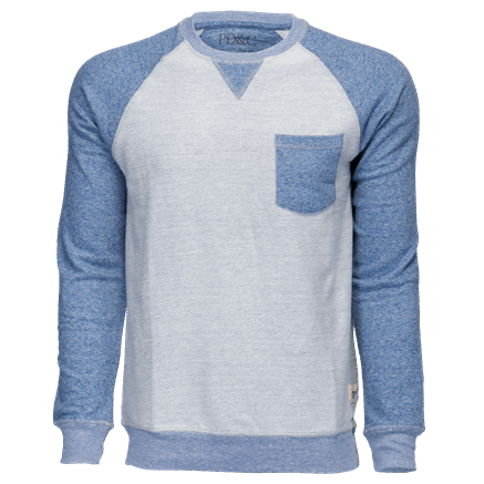 Pocket Crew Neck Blue