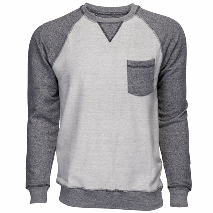Pocket Crew Neck Grey