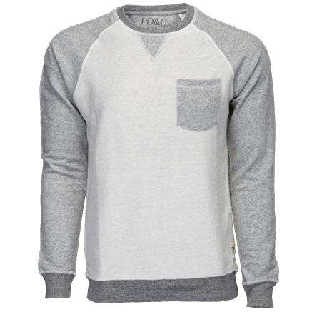 Pocket Crew Neck Light Grey