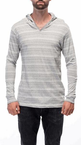 Marled Yarn Grey Stripe